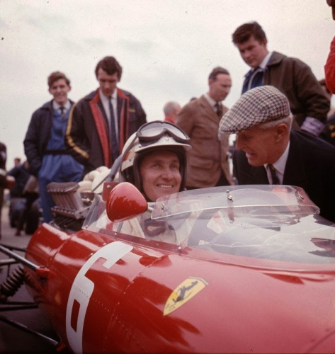 01 Mike Parkes (Ferrari) and Tommy Wisdom.jpg